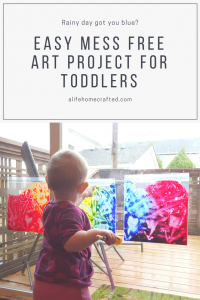 Easy mess free art project for toddlers