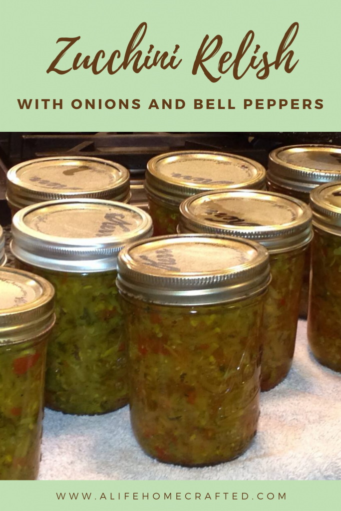 Zucchini Relish with onions and bell peppers